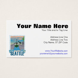 Seattle business cards templates zazzle beautiful seattle business card colourmoves