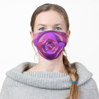 Beautiful semicircle pattern cloth face mask