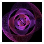 Beautiful semicircle pattern poster