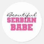 Beautiful Serbian Babe Classic Round Sticker