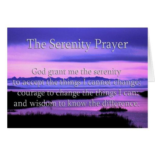 beautiful serenity prayer card