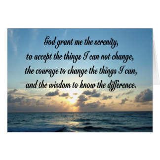 BEAUTIFUL SERENITY PRAYER OCEAN PHOTO CARD