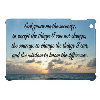 BEAUTIFUL SERENITY PRAYER OCEAN PHOTO iPad MINI COVERS