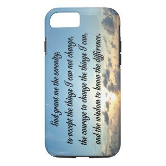 BEAUTIFUL SERENITY PRAYER OCEAN PHOTO iPhone 8/7 CASE