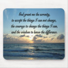 BEAUTIFUL SERENITY PRAYER OCEAN PHOTO MOUSE PAD