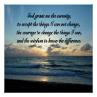 BEAUTIFUL SERENITY PRAYER OCEAN PHOTO POSTER