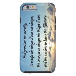 BEAUTIFUL SERENITY PRAYER OCEAN PHOTO TOUGH iPhone 6 CASE