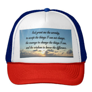 BEAUTIFUL SERENITY PRAYER OCEAN PHOTO TRUCKER HAT