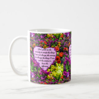 BEAUTIFUL SERENITY PRAYER PHOTO DESIGN COFFEE MUG