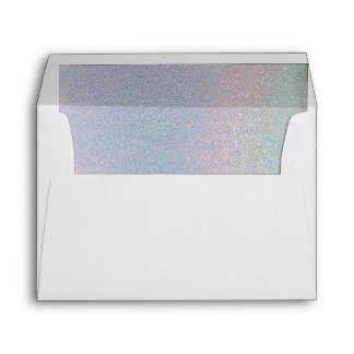 Beautiful Shades of blue Pink Iridescent Lined Envelopes
