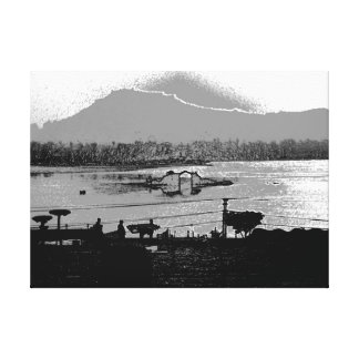 Beautiful Shalimar Garden and Dal Lake Gallery Wrap Canvas