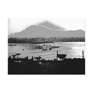 Beautiful Shalimar Garden and Dal Lake Canvas Print
