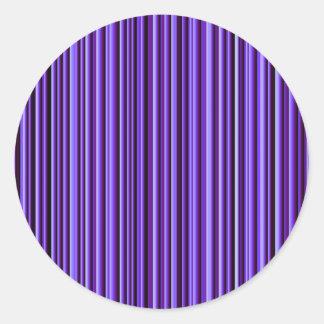 Beautiful Shining Stripes Classic Round Sticker