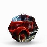 Beautiful Shiny Antique Red Fire Truck Art Acrylic Award