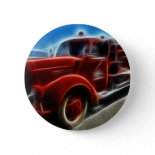 Beautiful Shiny Antique Red Fire Truck Art Buttons