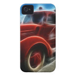 Beautiful Shiny Antique Red Fire Truck Art iPhone 4 Cover