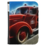 Beautiful Shiny Antique Red Fire Truck Art Case For The Kindle