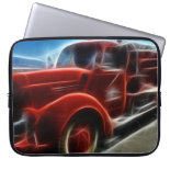 Beautiful Shiny Antique Red Fire Truck Art Laptop Computer Sleeves