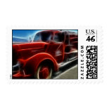 Beautiful Shiny Antique Red Fire Truck Art Postage