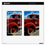 Beautiful Shiny Antique Red Fire Truck Art Kindle Fire Skin