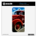 Beautiful Shiny Antique Red Fire Truck Art iPhone 4S Decal