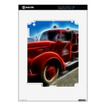Beautiful Shiny Antique Red Fire Truck Art Skins For The iPad 2