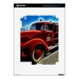 Beautiful Shiny Antique Red Fire Truck Art Skins For iPad 3