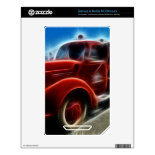 Beautiful Shiny Antique Red Fire Truck Art NOOK Color Decal