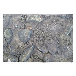 Beautiful Shot of Lava and Rocks Place Mat