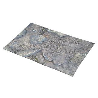 Beautiful Shot of Lava and Rocks Placemats