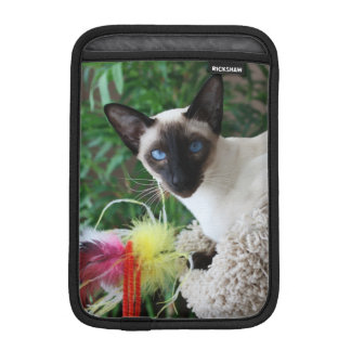 Beautiful Siamese Cat Playing With Toy Sleeve For iPad Mini