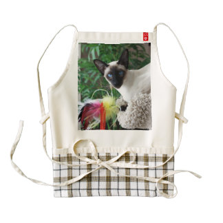 Beautiful Siamese Cat Playing With Toy Zazzle HEART Apron