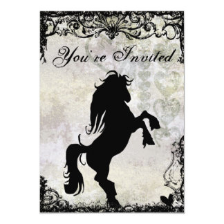 Beautiful Silhouette Horse Birthday Invitation