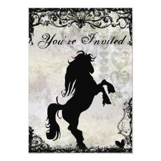 Beautiful Silhouette Horse Birthday Invitation
