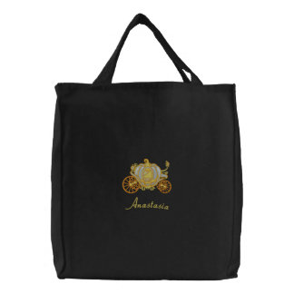Beautiful Silver And Gold Pumpkin Carriage Canvas Bag