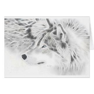 Beautiful Silver Wolf Card