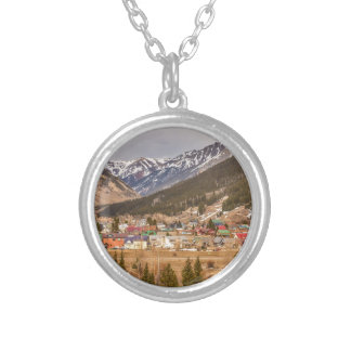 Beautiful Silverton Colorado Round Pendant Necklace