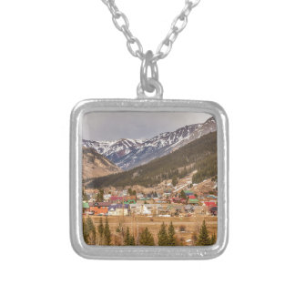 Beautiful Silverton Colorado Square Pendant Necklace