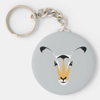 Beautiful, Simple DEER Design Basic Round Button Keychain