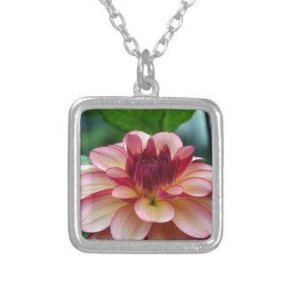Beautiful single pink dahlia flower pendants