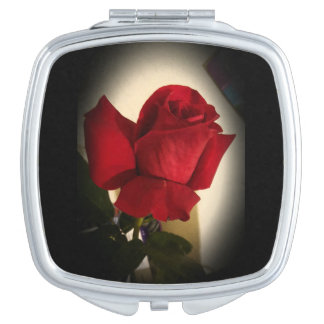 Beautiful Single Red Rose Compact Compact Mirror