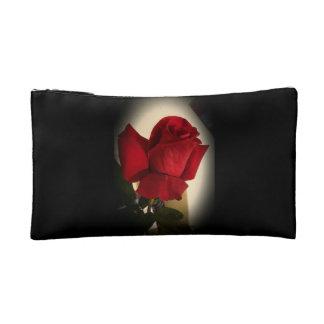 Beautiful Single Red Rose Make-up Bag