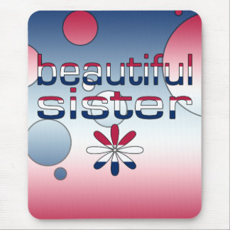 Beautiful Sister America Flag Colors Pop Art Mouse Pad