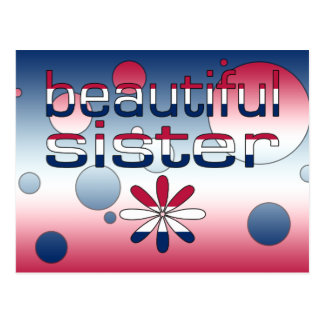 Beautiful Sister America Flag Colors Pop Art Postcard