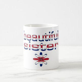 Beautiful Sister in Britain Flag Colors Coffee Mug