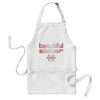Beautiful Sister in Canada Flag Colors Adult Apron
