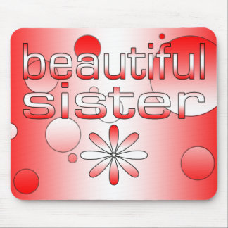 Beautiful Sister in Canada Flag Colors Pop Art Mouse Pad