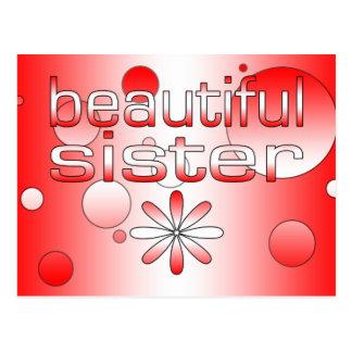 Beautiful Sister in Canada Flag Colors Pop Art Postcard