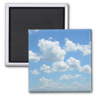 Beautiful Sky 2 Inch Square Magnet