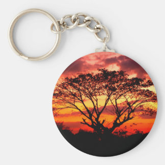 beautiful sky  and  cloud basic round button keychain